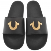 True Religion Horseshoe Sliders Black