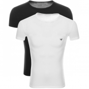 Product Image for Emporio Armani 2 Pack Crew Neck T Shirts White