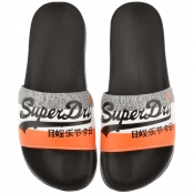 Superdry Logo Beach Sliders Black