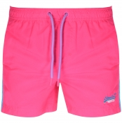 Superdry Beach Volley Swim Shorts Pink