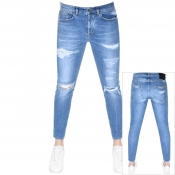 PRPS Windsor Crop Jeans Blue