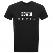 Edwin Crew Neck Japan T Shirt Black