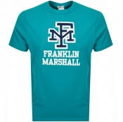 Product Image for Franklin Marshall Crew Neck Logo T Shirt Blue