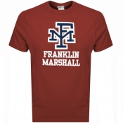 Product Image for Franklin Marshall Crew Neck Logo T Shirt Red