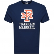 Product Image for Franklin Marshall Crew Neck Logo T Shirt Navy