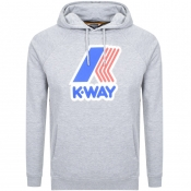 K Way Sean Logo Hoodie Grey
