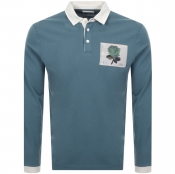 Product Image for Kent And Curwen Stokes Rugby Polo T Shirt Blue