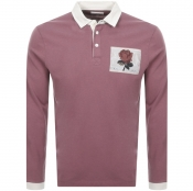 Product Image for Kent And Curwen Stokes Rugby Polo T Shirt Pink