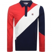 Product Image for Fila Vintage Long Sleeved Mazen Rugby Polo Navy