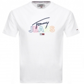 Product Image for Tommy Jeans Crew Neck Script T Shirt White