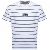 Product Image for Tommy Jeans Crew Neck Stripe T Shirt White
