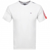 Product Image for Tommy Jeans Crew Neck Logo T Shirt White