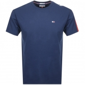 Tommy Jeans Crew Neck Logo T Shirt Navy