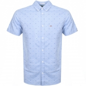 Product Image for Tommy Jeans Short Sleeved Dobby Shirt Blue