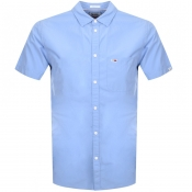 Tommy Jeans Short Sleeved Poplin Shirt Blue