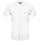 Tommy Jeans Short Sleeved Poplin Shirt White