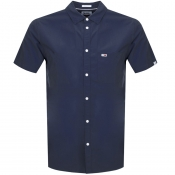 Product Image for Tommy Jeans Short Sleeved Poplin Shirt Navy