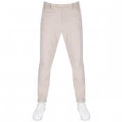 Les Deux Como Stretch Cropped Trousers Beige