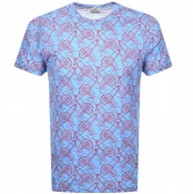 Product Image for Vivienne Westwood Crew Neck Logo T Shirt Blue