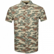 Product Image for Superdry Short Sleeve Rooke Parachute Shirt Khaki