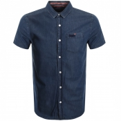 Superdry Short Sleeved Miami Loom Shirt Blue