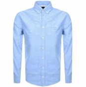 BOSS Casual Long Sleeved Mabsoot Shirt Blue