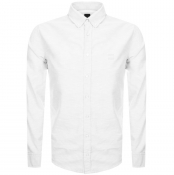 Product Image for BOSS Casual Long Sleeved Mabsoot Shirt White