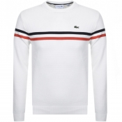 Lacoste Crew Neck Knit Jumper White