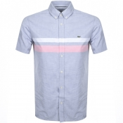 Product Image for Lacoste Short Sleeved Chest Stripe Shirt Grey