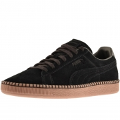 Puma Suede Classic Blanket Stitch Trainers Black