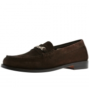 GH Bass Weejun Lincoln Reverso Loafers Brown
