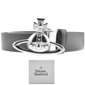 Vivienne Westwood Leather Orb Belt Black