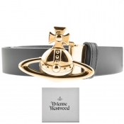 Vivienne Westwood Leather Orb Belt Black img