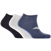 Emporio Armani 3 Pack Trainer Socks
