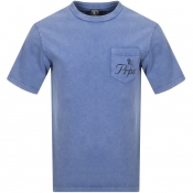 PRPS Crew Neck Pocket T Shirt Blue