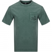 PRPS Crew Neck Pocket T Shirt Green