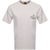 Product Image for PRPS Crew Neck Pocket T Shirt Beige