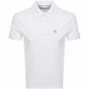 Love Moschino Short Sleeved Polo T Shirt White