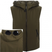 Product Image for CP Company Goggle Hood Gilet Green