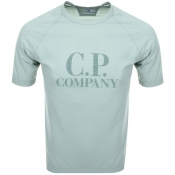 Product Image for CP Company Logo T Shirt Green