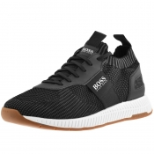 Product Image for BOSS Athleisure Titanium Runn Trainers Black