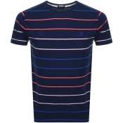Product Image for Gant Multi Breton Stripe T Shirt Navy