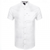 Product Image for Luke 1977 Short Sleeved Grandad Shirt White