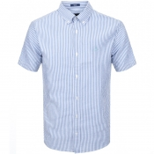 Product Image for Gant Seersucker Short Sleeved Stripe Shirt Blue