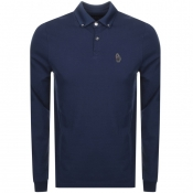 Product Image for Luke 1977 Long Sleeved Bill Polo T Shirt Navy