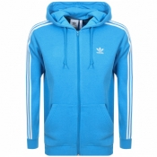 adidas Originals 3 Stripes Full Zip Hoodie Blue
