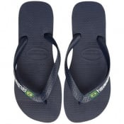 Product Image for Havaianas Brazil Logo Flip Flops Navy