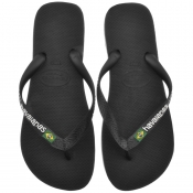 Product Image for Havaianas Brazil Logo Flip Flops Black