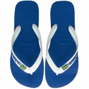 Product Image for Havaianas Brazil Logo Flip Flops Blue