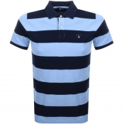 Product Image for Gant Barstripe Polo T Shirt Blue